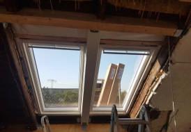 Neueinbau Velux Lichtlösung DUO mit Smart Ventilation und Dachfensterrollladen