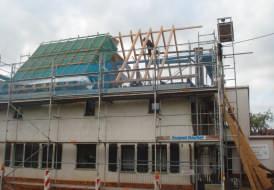 Erneuerung Dachstuhl und Dacheindeckung an einem Einfamilienwohnhaus