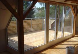 Herstellung einer Dachterrasse in einem Bestandsdach als Komplettleistung einschl. Bauelemente